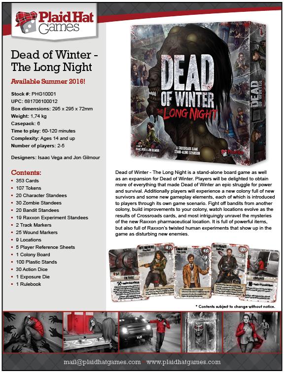 Dead of winter long night brädspel spelglädje sällskapsspel
