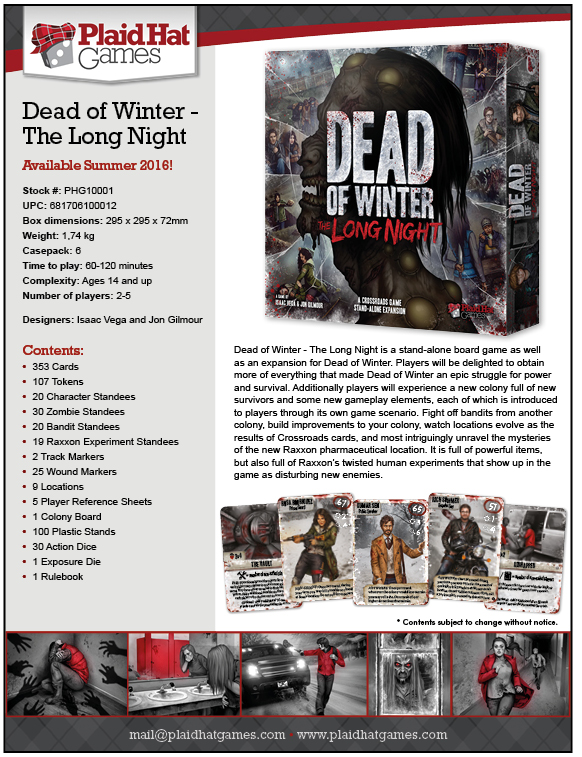 Dead of winter long night brädspel spelglädje sällskapsspel