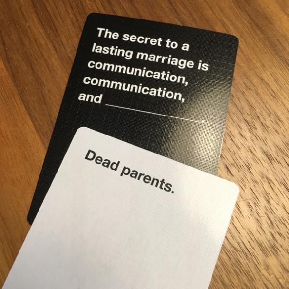 cards against humanity spelglädje brädspel sällskapsspel