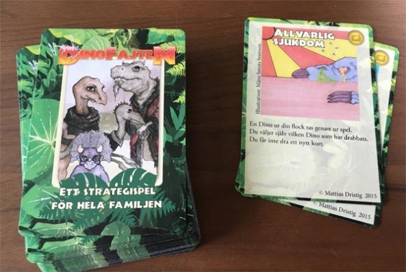 Dinofajten-cards