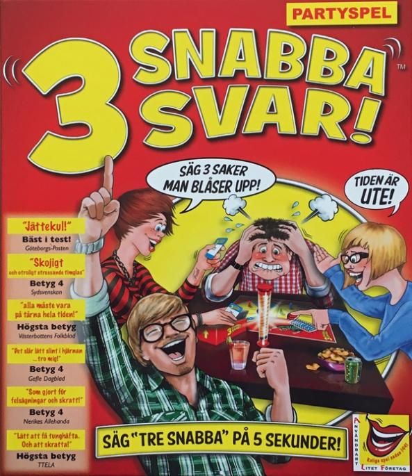 3 snabba svar! brädspel spelglädje sällskapsspel