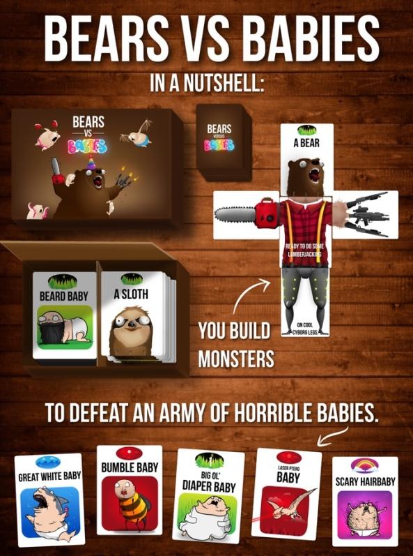 bears vs babies spelglädje brädspel sällskapsspel