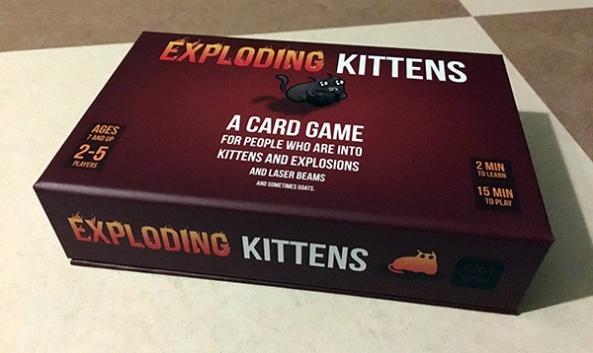 Exploding Kittens brädspel spelglädje sällskapsspel