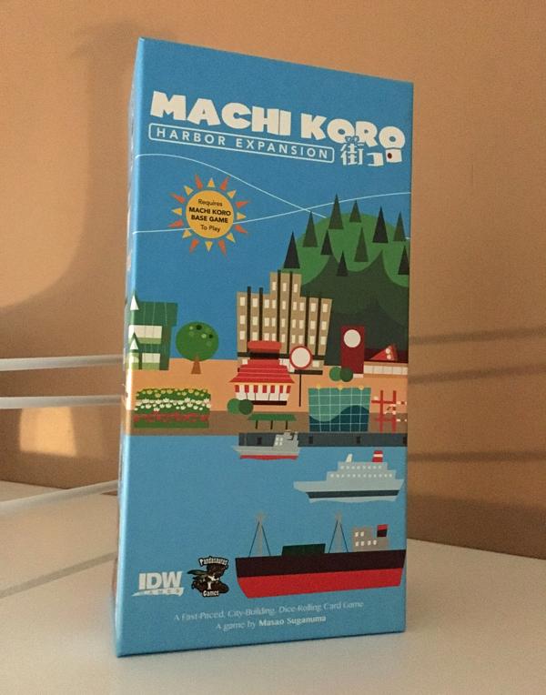 machi koro harbor brädspel sällskapsspel spelglädje